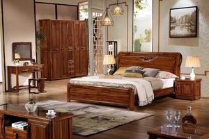 虎斑木家具床套系